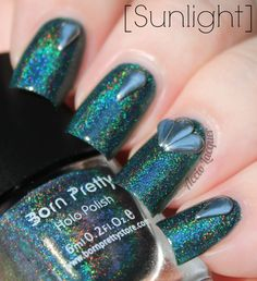 Accio Lacquer: Born Pretty Store: Holographic #12 Colors by Llarowe Gizzards & Lizards dupe swatched $5 SOLD