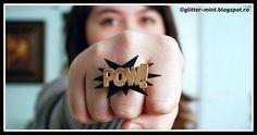 DIY Pow Bam Plastic Ring Tutorial