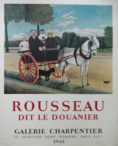 Sku: Artist: Henri Rousseau Title: Dit Le Douanier Year: 1961 Signed: No Medium: Lithograph Paper Size: x 21 inches ( x cm ) Image Size: x inches ( x cm ) Edition Size: Unknown Framed: No Condition: A-: Near Mint, very light signs of handling Henri Rousseau, Henri Matisse, Paris Ville, Exhibition Poster, Dit, Find Art, Framed Artwork, Image, Father