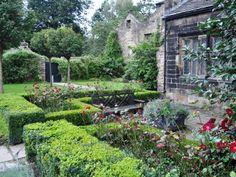 Rear garden at Riddlesden Hall, Keighley
