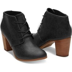 Black Metallic Synthetic Leather Women's Lunata Lace-Up Booties ($98) ❤ liked on Polyvore featuring shoes, boots, ankle booties, black booties, lace up ankle booties, lace up bootie, black lace up bootie and bootie boots
