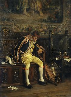 A Footman Sleeping Charles Bargue  (French, Paris 1825/26–1883 Paris) Date: 1871