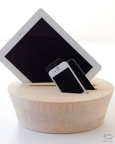 Wooden gadget stand by Sample Project