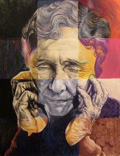 'Helen Made Sense' , made by: Sarah Detweiler - Mixed media on paper