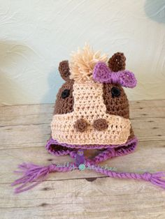Hey, I found this really awesome Etsy listing at https://www.etsy.com/listing/155749642/nellie-the-horse-earflap-beanie