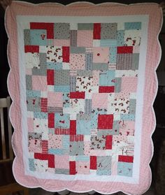 BABY GIRL QUILT: Custom Made Moda A Walk in the Woods featuring Little Red Riding Hood.  via Etsy.
