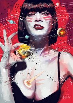 Pop apocolyptic painting girl Javier G. Pacheco ◆ Art For Teens ◆ THE END on Behance