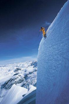 Ski de l'extrême à Grand Targhee, Wyoming.