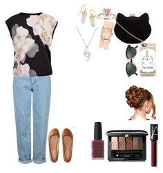 """""""Untitled #58"""" by rowanstella on Polyvore featuring Topshop, Ted Baker, Aéropostale, New Look, Casetify, Ray-Ban, BillyTheTree, Michele, BERRICLE and NARS Cosmetics"""