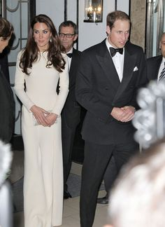 The Duchess of Cambridge Kate Middleton and The Duke of Cambridge Prince William are pictured as they arrive at The Claridges Hotel for the Thirty Club in London, England on May 8, 2012.