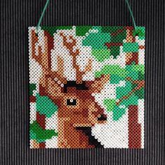 Deer hama perler art by Nienke Van De Sande
