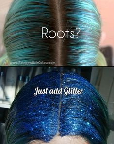 roots glitter hair