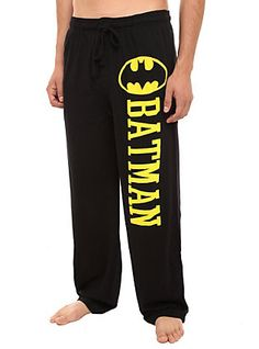 DC Comics Batman Guys Pajama Pants, BLACK, hi-res