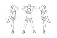 Standing criss cross crunches exercise guide with instructions, demonstration, calories burned and muscles worked. Learn proper form, discover all health benefits and choose a workout. http://www.spotebi.com/exercise-guide/standing-criss-cross-crunches/