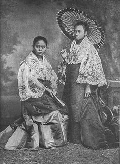 """The """"Maria Clara"""",  a traditional Philippine national costume"""