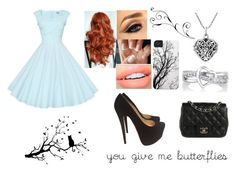 """You Give Me Butterflies"" by sadiemay42 ❤ liked on Polyvore featuring Christian Louboutin, AeraVida, Emitations and Chanel"