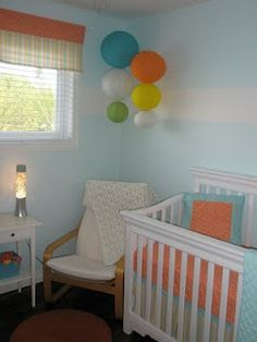 Love the color combo. And I love the paper lanterns.