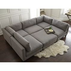 Pit Couch, Sleeper Sectional, Modular Sectional Sofa, Corner Sectional, Sectional Couches, Oversized Couch Sectional, Oversized Ottoman, Large Sectional, U Shaped Sectional Sofa