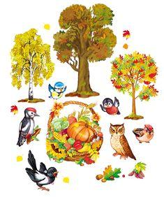 Просмотреть иллюстрацию Осень.деревья.птички из сообщества русскоязычных художников автора Татьяна в стилях: 2D, нарисованная техниками: Компьютерная графика.