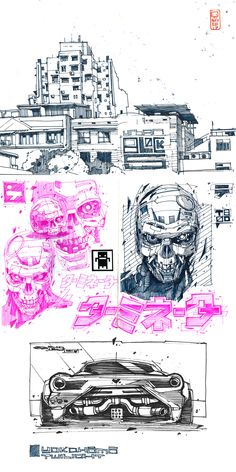 Artem Solop on Behance Sketchbook Inspiration, Art Sketchbook, Manga Art, Anime Manga, Drawing Sketches, Art Drawings, Character Art, Character Design, Arte Cyberpunk