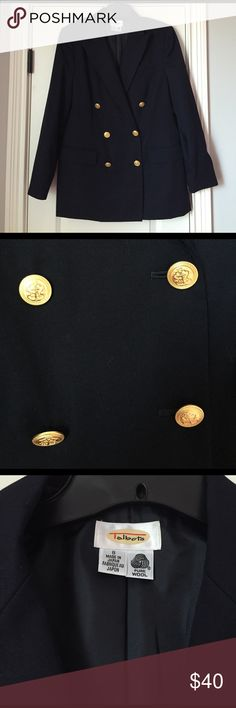 🆕 Vintage Talbots Jacket Navy vintage blazer from Talbots! EUC! No signs of wear! Double breasted front with gold nautical buttons! Fully lined, 100% wool! Great spring jacket! I also have this available in black! Talbots Jackets & Coats Blazers