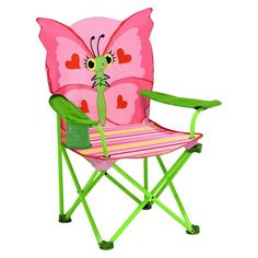 Melissa & Doug® Sunny Patch Bella Butterfly Outdoor Folding Lawn and Camping Chair : Target