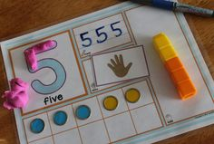 Explore numbers 1-10 in many different ways. Preschool, pre-k, and special ed. - multi-sensory and differentiated