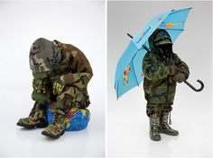 this guy takes old clothes and creates things with them. check it out...http://www.fubiz.net/2010/07/20/recycling-clothing-art/