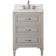 Avanity Kelly Grey/ Blue 24-inch Vanity Combo - Overstock™ Shopping - Great Deals on Bathroom Vanities
