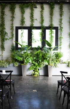 Ceremony Flowers and Huppah Arrangements — Rosehip Social Ceremony Backdrop, Ceremony Decorations, Flower Decorations, Wedding Wall, Hanging Flowers, Tropical Leaves, Garden Styles, Wedding Designs, Floral Wedding