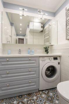 Waschmaschine im Badezimmer: eine günstige Lage der Mini-Wäsche im Hygieneraum Nicht jeder kann sich einen separaten Raum im Haus oder in der Wohnung zum Waschen leisten, was das Problem einer unansehnlichen Waschmaschine in der Ecke des Badezimmers beseitigt. Glücklicherweise ...