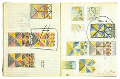 """Studies for """"Smaller and Smaller"""" (taken from the notebooks)"""