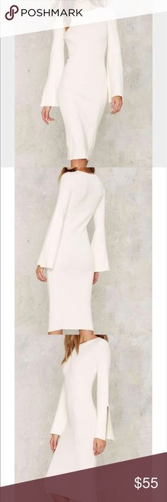 Nasty Gal White Sweater Than Honey Midi Dress Nasty Gal White Sweater Than Honey Midi Dress Nasty Gal Dresses Midi