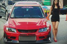 Red Mitsubishi Lancer Evolution 8/9