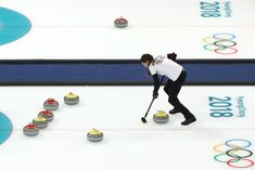 DAY 0:  Curling - Mixed Doubles - China vs. OAR - Anastasia Bryzgalova of Olympic Athlete from Russia