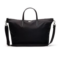 757f8f991a3d LACOSTE Women s L.12.12 Concept Nylon Zippered Tote Bag.  lacoste  bags  shoulder  bags  hand bags  nylon  tote