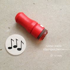 Mini Music Notes Rubber Stamp by winklerin on Etsy