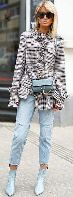 "Gitta Banko blogger  ""Blondwalk""  Jacket: Erika Cavallini, Bag: Chloe,  Jeans: Mango, Shoes: Zara, Sunnies: Le Specs"