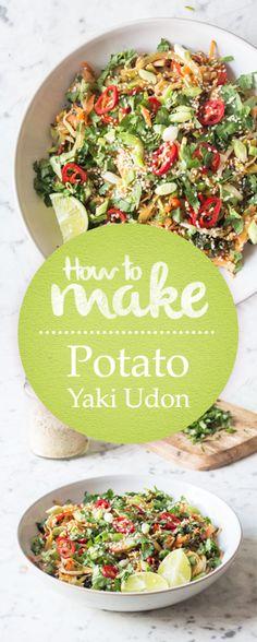 How to make Potato Yaki Udon