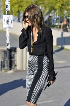 pencil skirt...great look