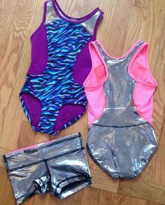 routine on point.  | gymnastics gear
