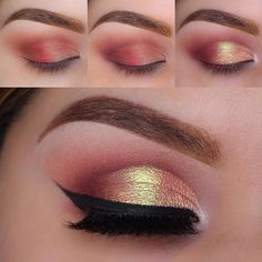 By using our 'Let's Start' brush, you can easily create this shimmering eye look! #LAB2 → lab2beauty.com