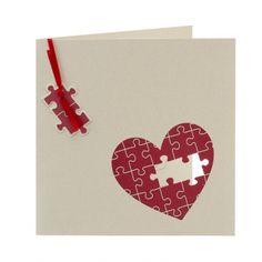 Faire-part mariage puzzle coeur 103-093