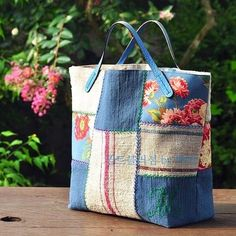 Patchwork Bags, Quilted Bag, Jute Bags, Craft Bags, Linen Bag, Bag Patterns To Sew, Fabric Bags, Handmade Bags, Bag Storage