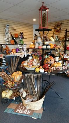 Fall Display - Peshtigo Wedding Designs, Basket, Table Decorations, Autumn Displays, Instagram Posts, Home Decor, Candy, Bar, Decoration Home