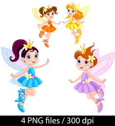 Fairy Clipart, Fairy girls clipart, Fairy Clipart vector illustration S2 by…