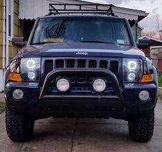 2006 2010 Jeep Commander Headlights Quad Projector Xenon
