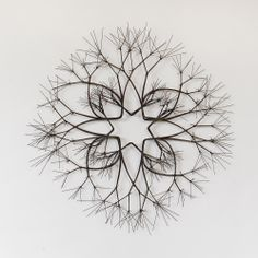 "Ruth Asawa Untitled (S.610, Wall-Mounted, Tied Wire, Open-Center,  Eight-Pointed Star, Eight-Branched Form Based on Nature) c. 1966 Bronze wire 28"" diameter x 4"" deep"