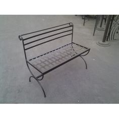 Bench Stainless Steel Wrought Iron. Customize Realizations. 446 Chair Bench, Outdoor Furniture, Outdoor Decor, Wrought Iron, Stainless Steel, Home Decor, Decoration Home, Room Decor, Interior Design