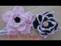 Tutorial Fiore decorativo all'uncinetto - how to crochet a flower - YouTube
